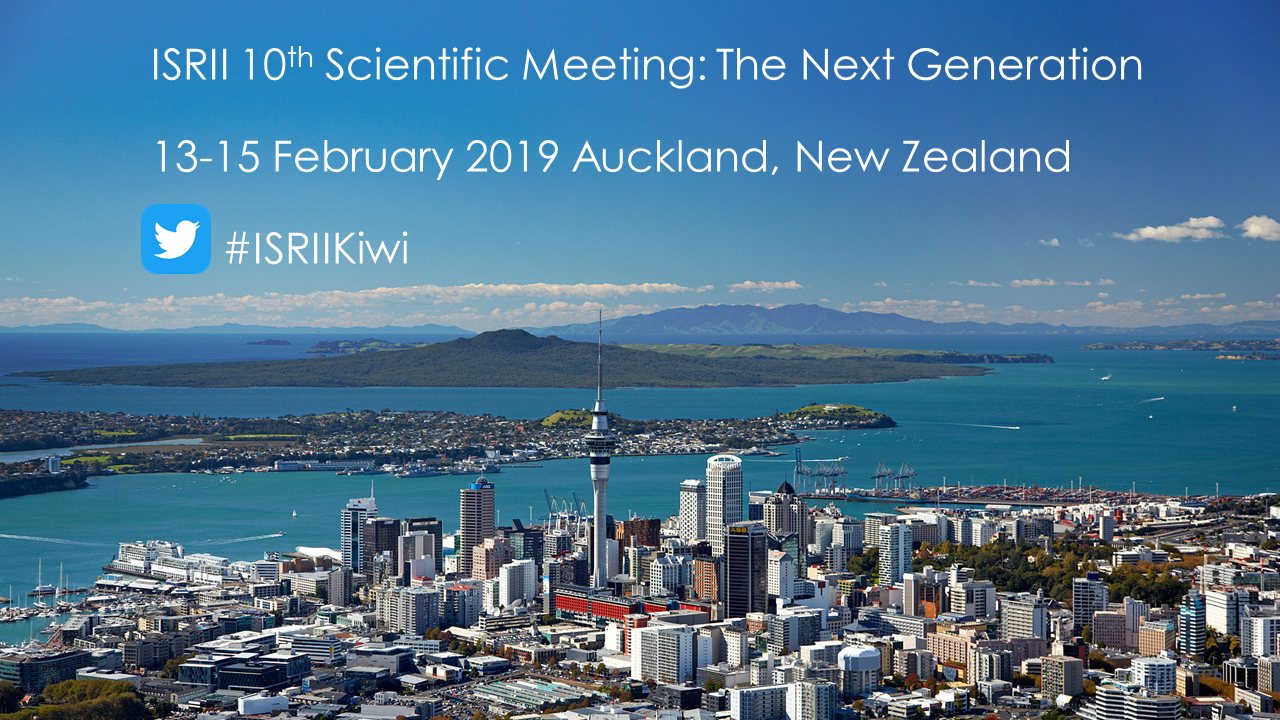 ISRII in Auckland 2019 One slide